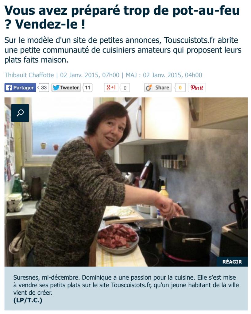 Le Parisien aime la cuisine entre particuliers
